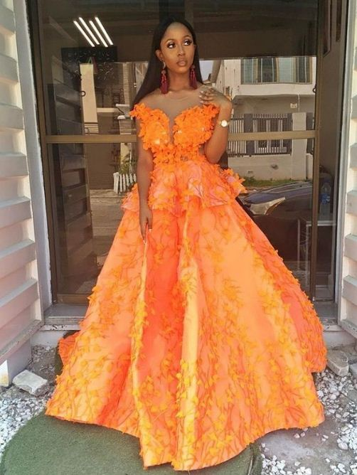Collection of long gowns of different fashion styles with pictures