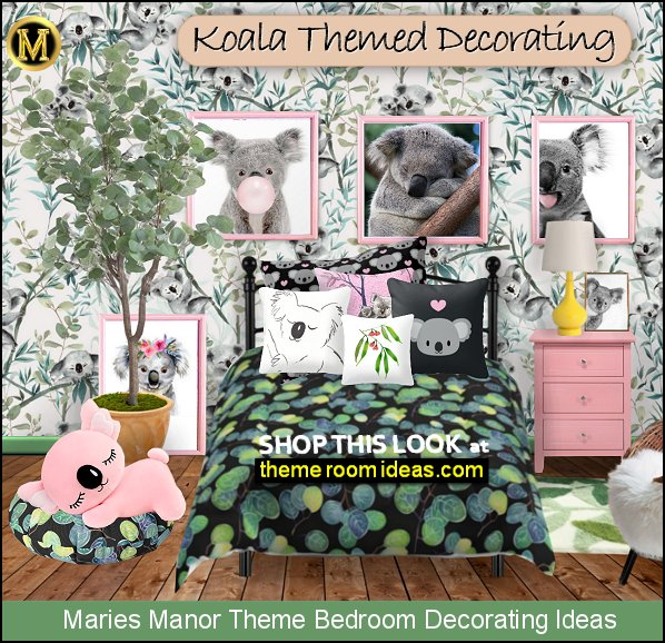 koala bedroom ideas - koala decor - koala bedding - koala plush toys - australian inspired decorating ideas