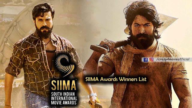 SIIMA Awards 2019: Winner list