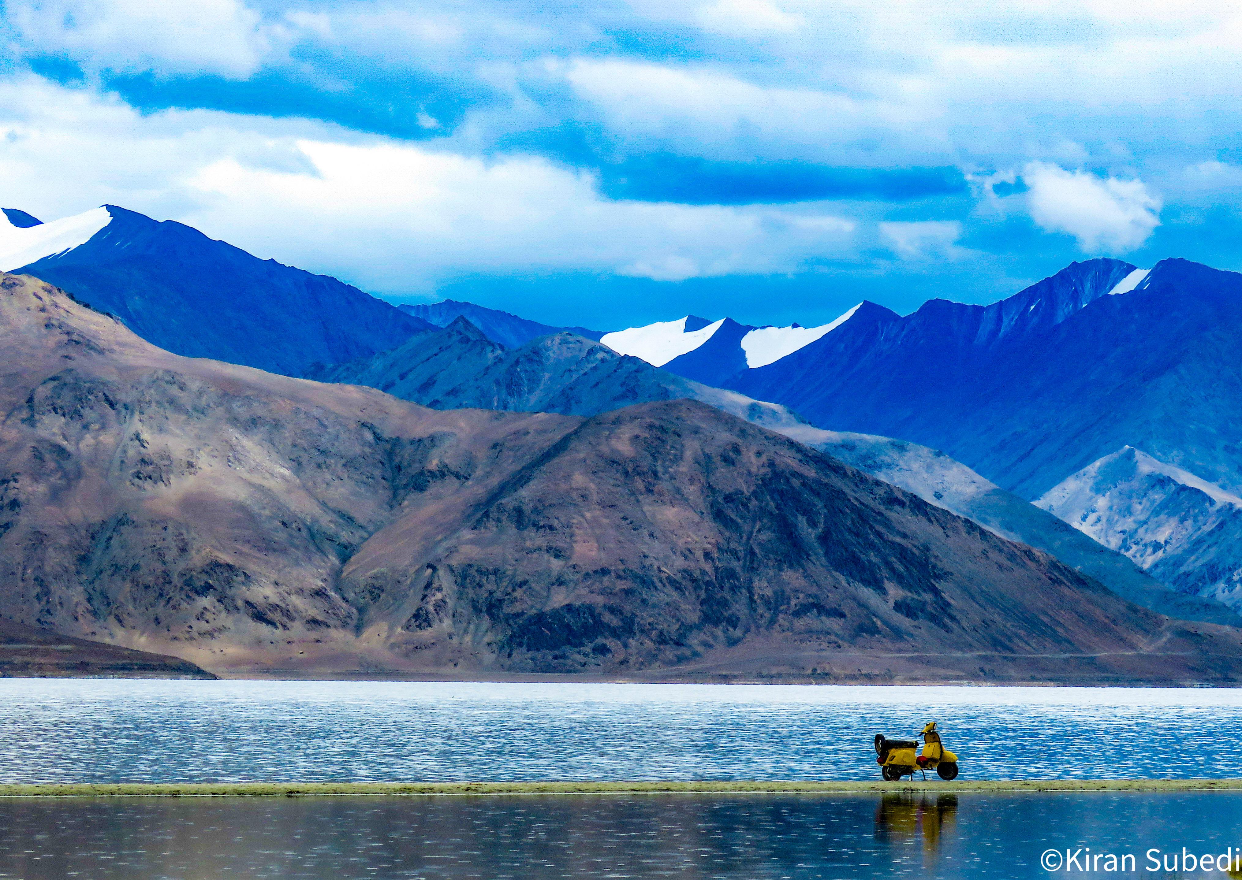 Pangong Tso is the most famous lake in Ladakh.