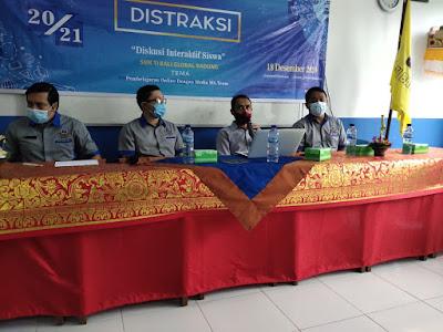 OSIS SMK TI Bali Global Badung Gelar Acara Semesteran : DISTRAKSI (Diskusi Interaktif Siswa Inspiratif) Semester Ganjil T.A 2020/2021