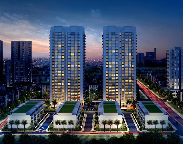 Phối cảnh tổng thể chung cư Thống Nhất Complex Nguyễn Tuân