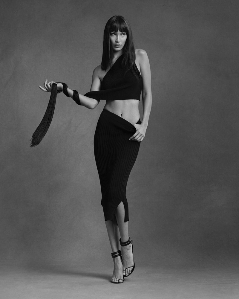 Bella Hadid stars in Helmut Lang pre-fall 2020 campaign.