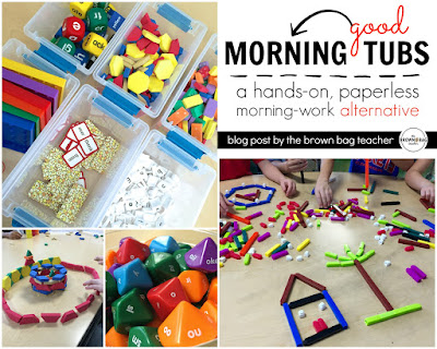 Morning Math Tubs First Grade