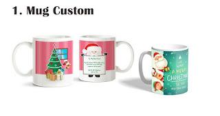 Mug Custom merupakan salah satu souvenir natal terfavorit