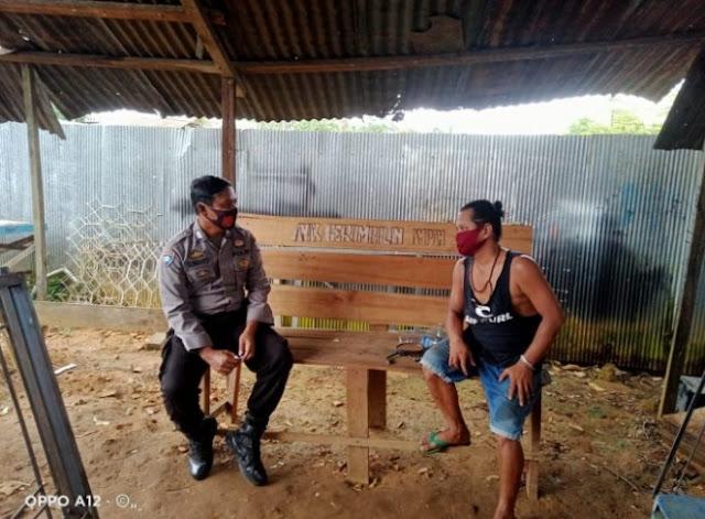Masyarakat Desa Wuran Kec. Karusen Janang Menerima Penyampaian Imbauan Kamtibmas Oleh Bhaninkamtibmas Bripka Gunanto