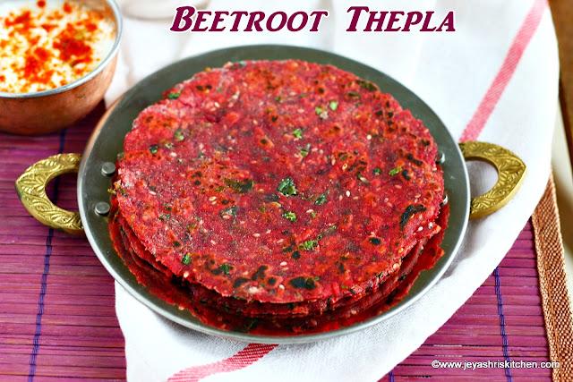 Beetroot- thepla