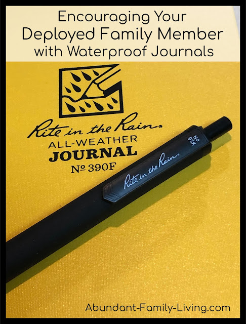 Encouraging Your Deployed Family Member Using Waterproof Journals