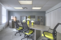 Gray Boardroom Table