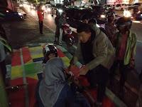 Lakalantas Tunggal di Jalan RA Kartini Bandar Lampung