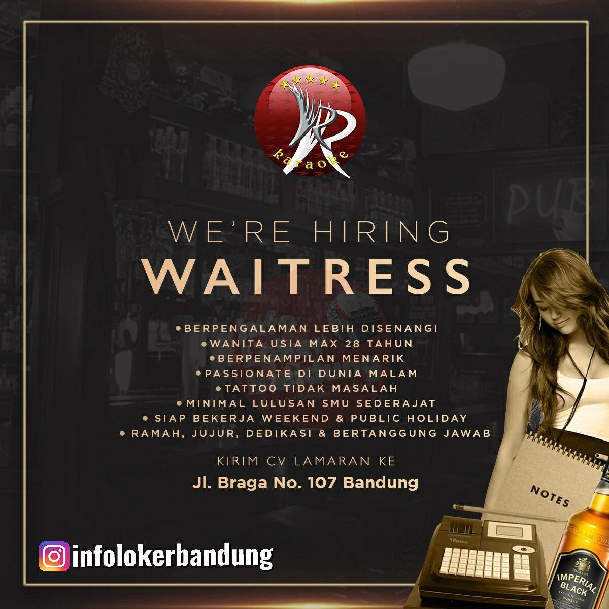 Lowongan Kerja Waitress VR Karaoke Bandung Agustus 2019