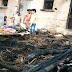 गैस चूल्हे से निकली चिंगारी से मकान जला, गृहस्वामी झुलसा