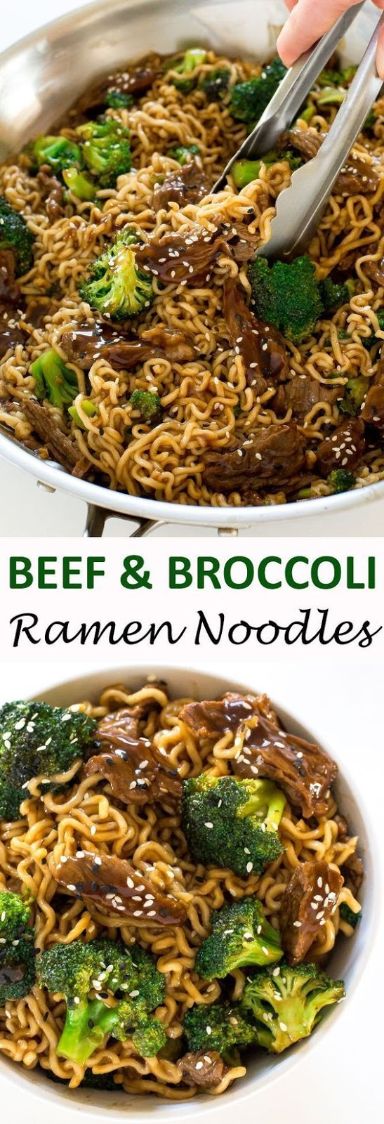 Beef and Broccoli Ramen #beef #broccoli #ramen #broccoliramen #dinnerideas #dinnerrecipes #easydinnerrecipes