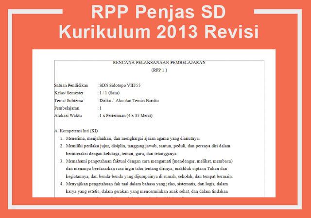 RPP Penjas SD Kurikulum 2013 Revisi
