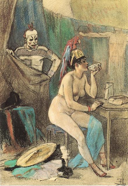 Felicien Rops - L'intervallo di Minerva - sex art - erotismo