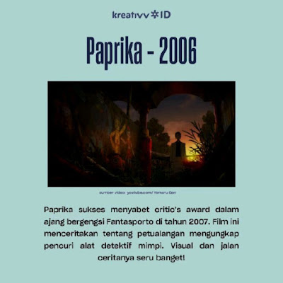 Film Anime Seru yang Sukses Dapat Penghargaan Internasional Paprika - 2006