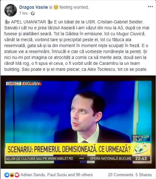 USR. Cristian-Gabriel Seidler la Anenta 3 pe 26-27 Mai 2019