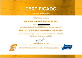Certificação Febraban FBB 100  Correspondente Completo