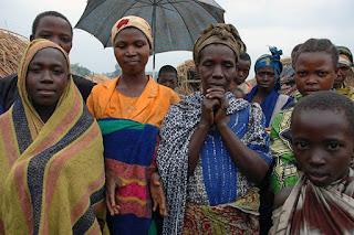 Homeless family caused by Rwandan Hutu insurgents.