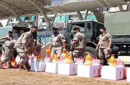 بتعليمات ملكية توزيع شحنات من المساعدات الغذائية والطبية المغربية للمتضررين جراء انفجار مرفأ بيروت