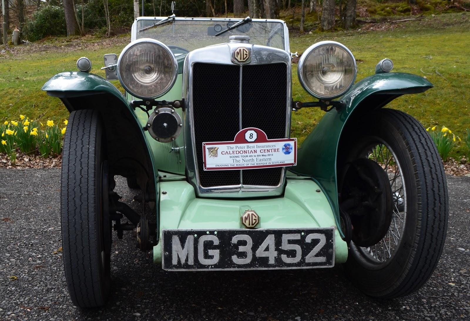 Tour Scotland Photographs MG Midget Pitlochry Highland Perthshire