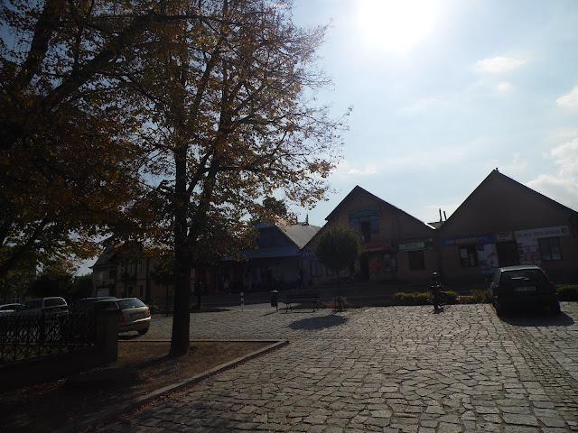 Rynek w Ciężkowicach koło Tarnowa