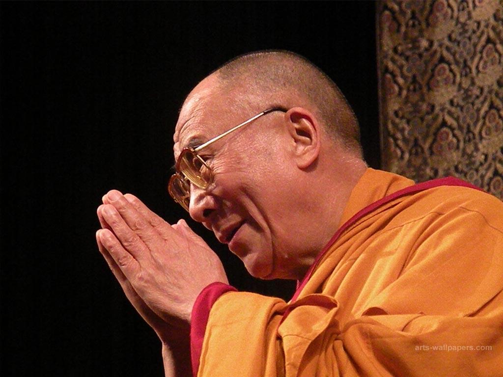 Dalai Lama in Brussels wallpaper