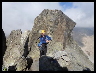 En la cima del Pico del Portillón
