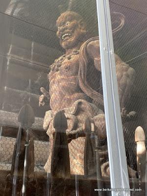 Nio guardian figure at Niomon Gate at Zenkoji Temple in Nagano City, Japan