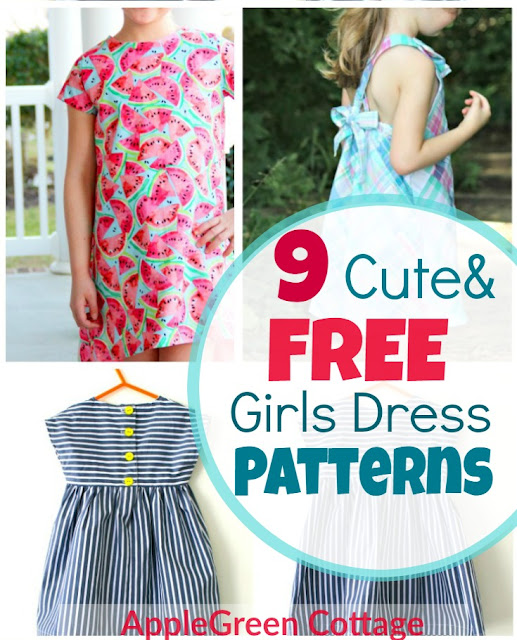 f72027eec388d Dress Patterns For Girls - 9 Adorable Free Patterns! - AppleGreen ...