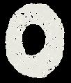 数字のペンキ文字「0」