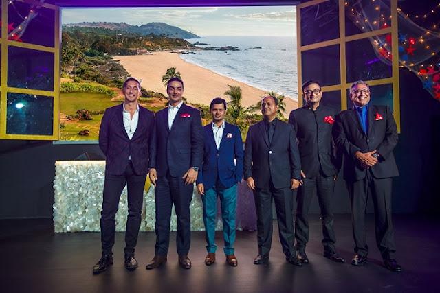 Image 2- (L-R) Anthony Ingham, Global Brand Leader, W Hotels Worldwide; TJ Joulak, General Manager, W Goa; Amit Bhosle, Managing Director, ABIL Group; Rajesh Advani, Managing Director, Classic Citi Investments; Anurag Bhatnagar, Area General Manager, Marriott International & Mr. Dilip Puri, Regional VP South Asia Marriott International at the W Goa Preview
