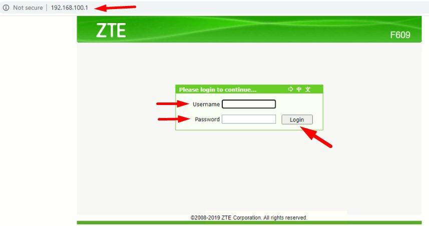 Cara restart modem ZTE F609 melalui browser