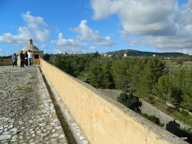Muralhas do Castelo de São Filipe, em Setúbal, Portugal