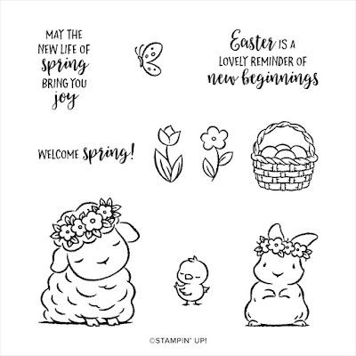 Springtime Joy stamp set available through Jemini Crafts