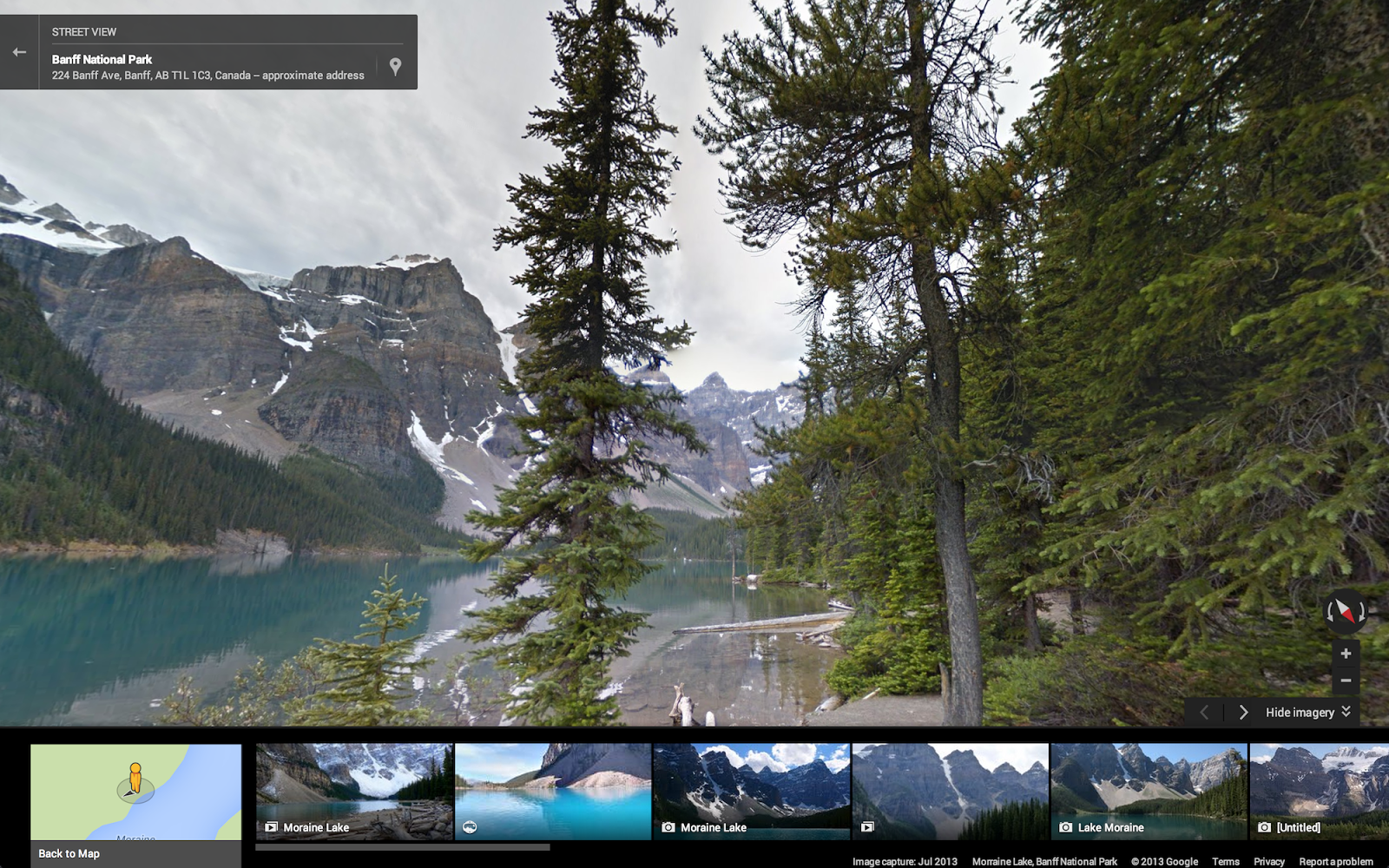 Google Lat Long Take A Hike With Street View Through US - Map of banff and us