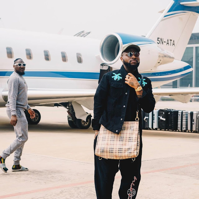 Davido Travels To The United States As He Finalizes Collabo Deal With Enisa (Photos)