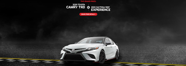 Toyota and Nascar are giving away athlete inspired weekly prizes. You could even win a 2020 Toyota Camry TRD and a trip to the 2020 Daytona 500!