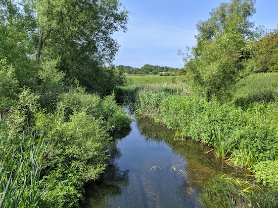 Wheathampstead footpath 64 crossing the River Lea - point 18