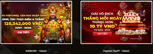 Tin nổi bật: Giải đấu Slot Game tiền TỶ trong tháng 8 tại 12BET Kmt8