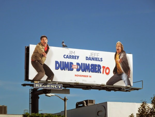 Dumb and Dumber To pigeon billboard