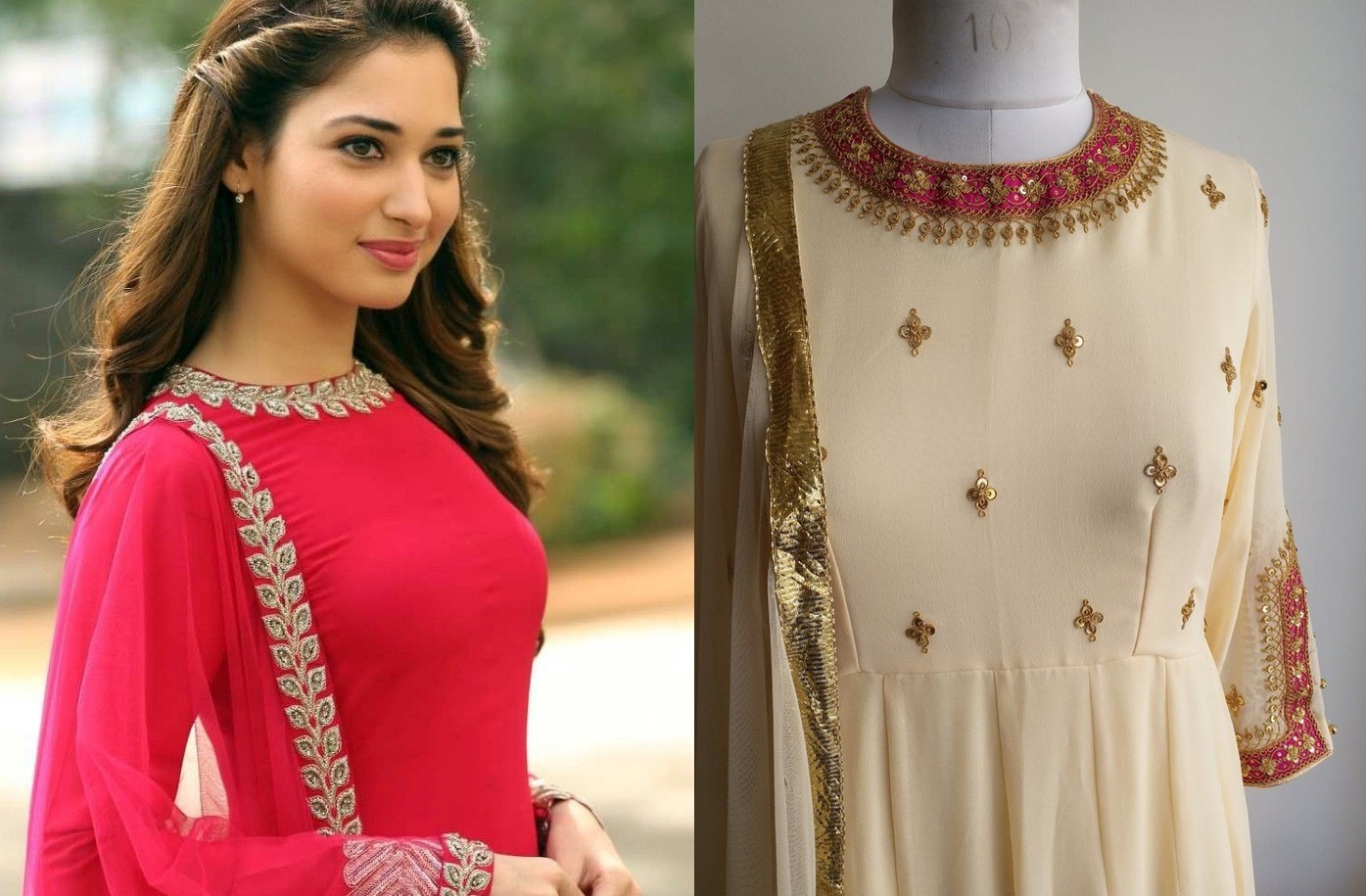40 Amazing Kurti Neck Designs With Lace And Borders Bling Sparkle