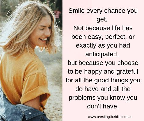Smile every chance you get. Not because life has been easy, perfect, or exactly as you had anticipated, but because you choose to be happy. #inspiration