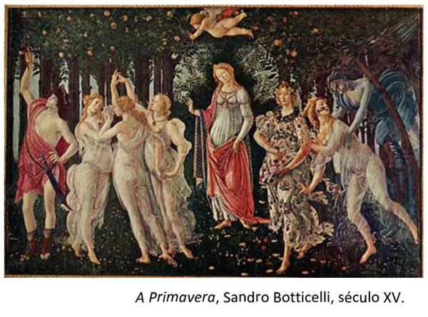 A Primavera, Sandro Botticelli, século XV.