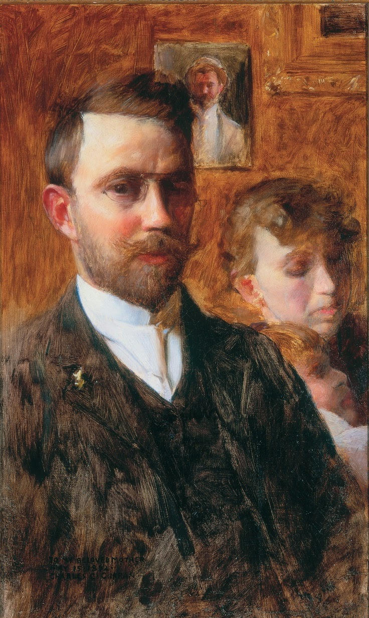 Charles Courtney Curran, Self Portrait, Portraits of Painters, Fine arts, Painter Charles Courtney Curran