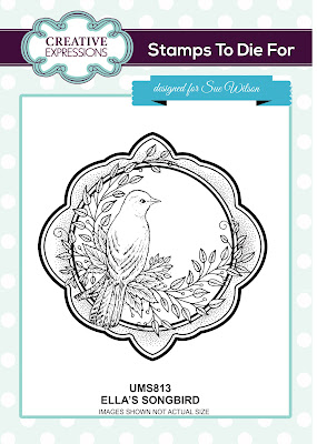 Creative Expressions Stamps To Die For Ella's Songbird UMS813