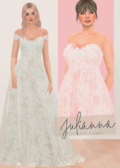 - ̗̀ Julianna Dress ̖́- (TS4)