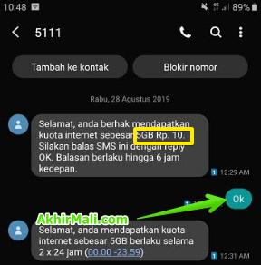 Kuota 5gb Rp 10 Telkomsel Bonus Isi Ulang Pulsa Simpati AS dan Loop