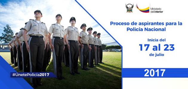 Reclutamiento en linea Policía Nacional del Ecuador 2017