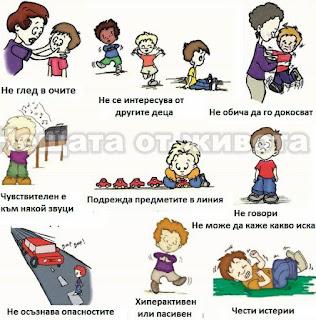 Признаци на аутизъм при децата